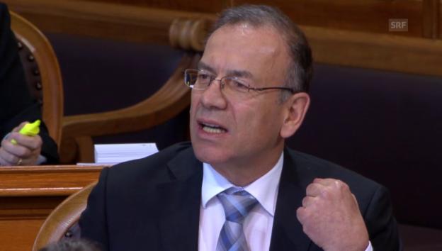 Video «Hannes Germann (SVP/SH) gegen Numerus clausus» abspielen