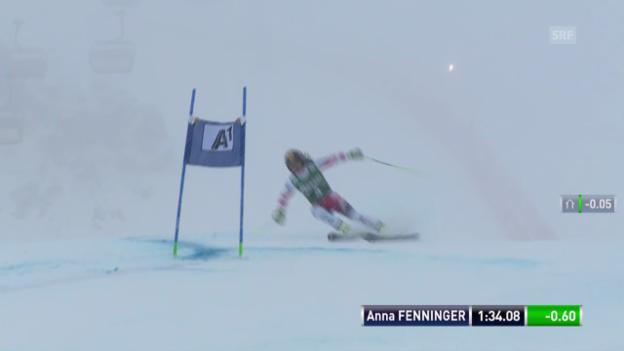 Video «Ski Alpin: Weltcup Kühtai, Riesenslalom, 2. Anna Fenninger» abspielen