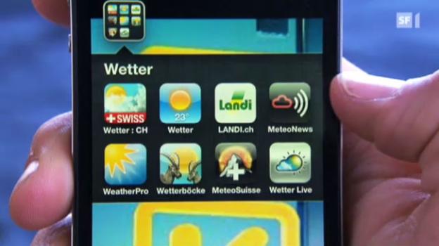 Video «Wetterprognose-Apps im Test» abspielen