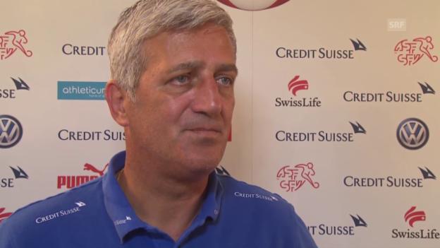 Video «Fussball: Vladimir Petkovic über das Testspiel gegen Liechtenstein» abspielen