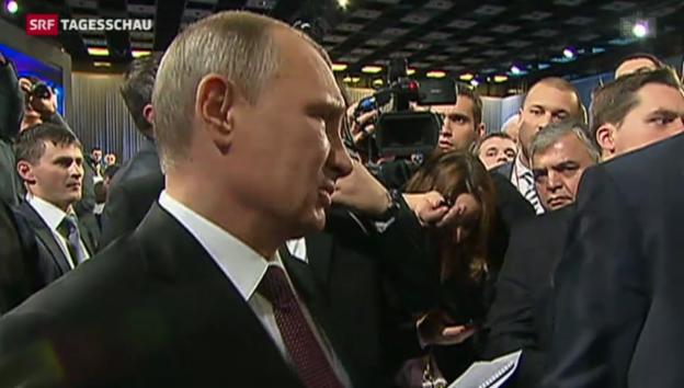 Video «Putin kündigt Begnadigung Chodorkowskis an» abspielen