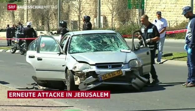 Video «Auto-Rammfahrt in Jerusalem» abspielen