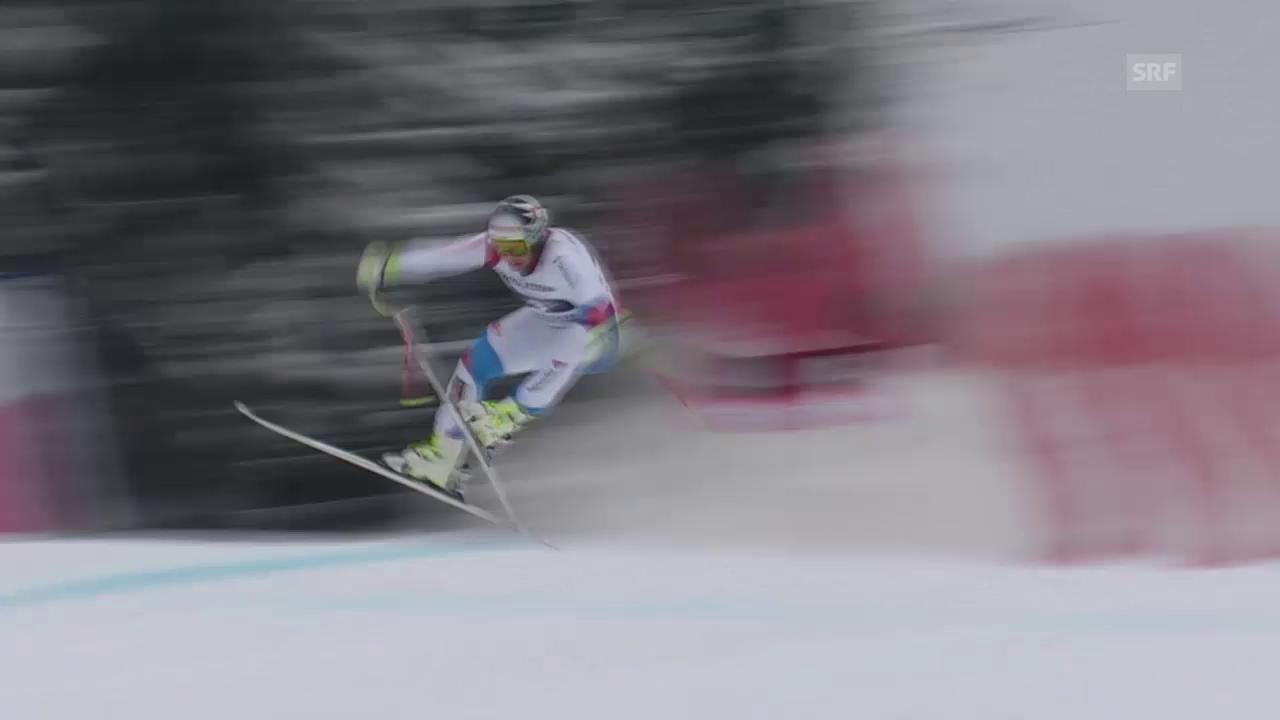 Ski alpin: Weltcup, Abfahrt Garmisch-Partenkirchen, Schreckmoment Beat Feuz
