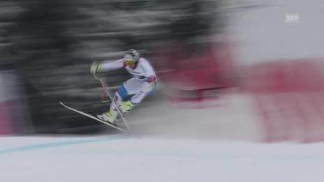 Video «Ski alpin: Weltcup, Abfahrt Garmisch-Partenkirchen, Schreckmoment Beat Feuz» abspielen