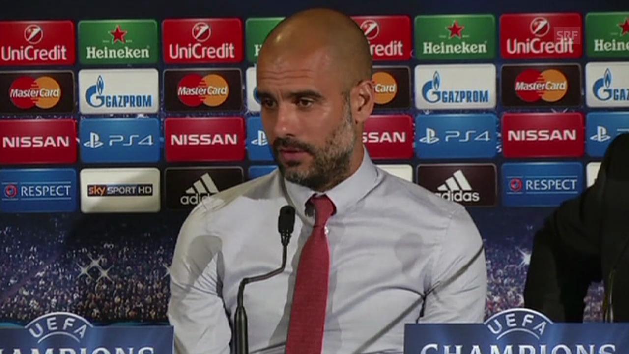 Fussball: Medienkonferenz mit Pep Guardiola (Quelle: SNTV)