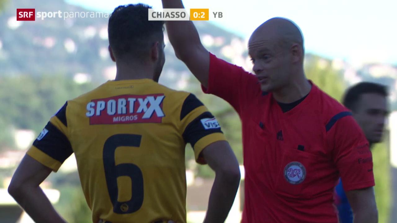 Fussball: Cup, Leonardo Bertone sieht die rote Karte