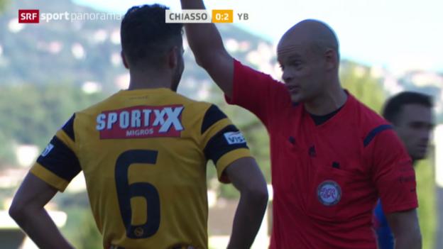 Video «Fussball: Cup, Leonardo Bertone sieht die rote Karte» abspielen