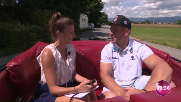 Video «Remo Käser stellt sich Annina Freys Fragen» abspielen