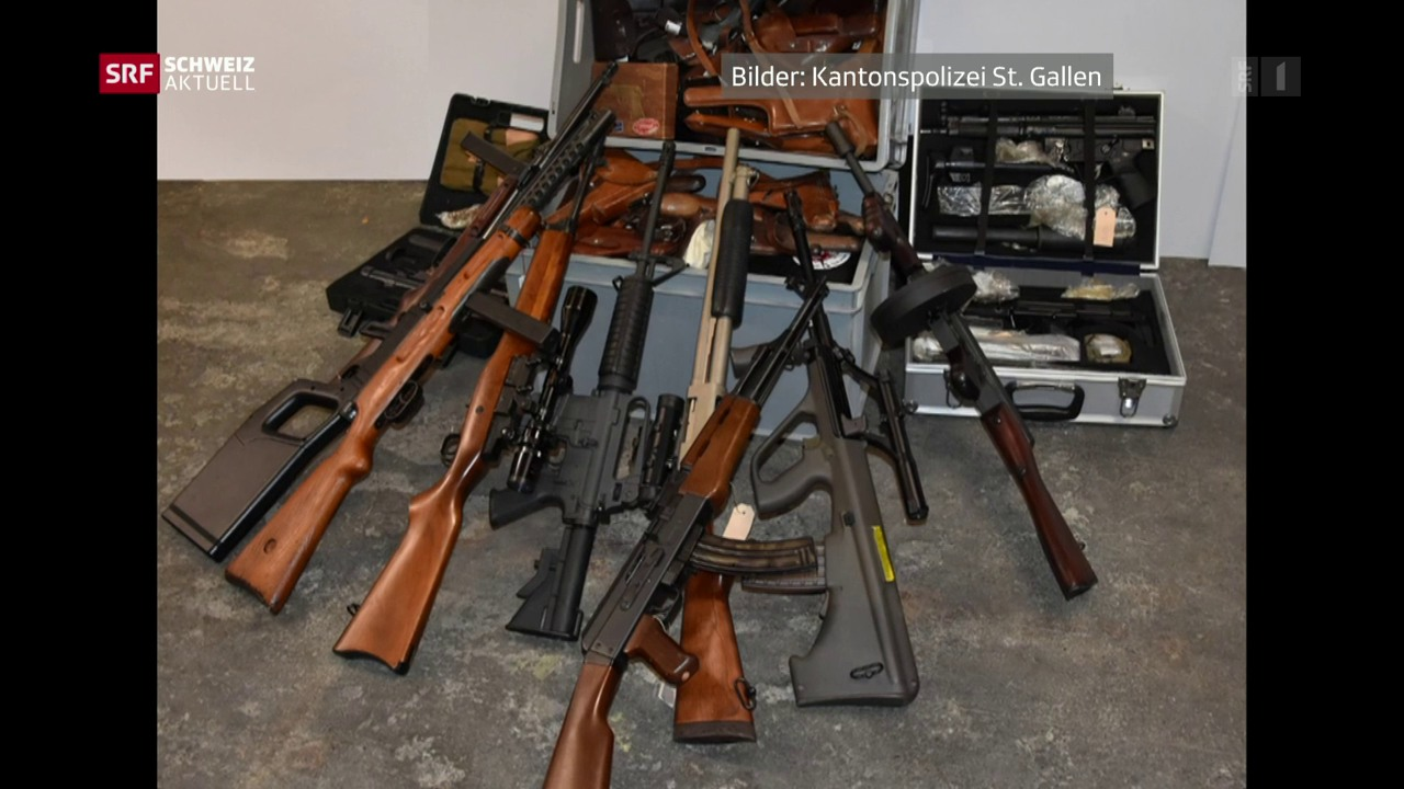 Polizei entdeckt Waffenarsenal