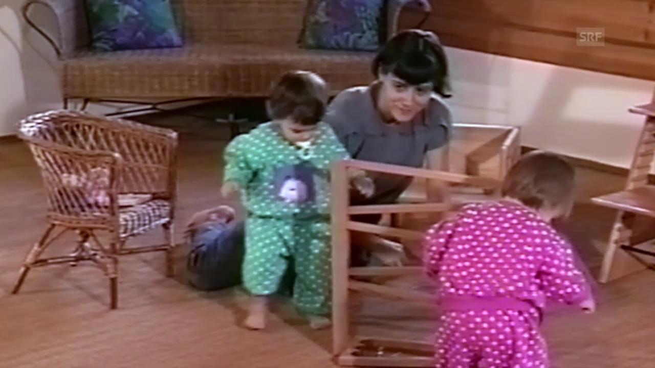 Sara und Laura Benz im Babyalter