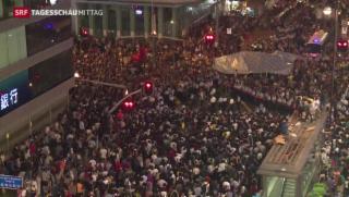Video «Lage in Hongkong eskaliert» abspielen