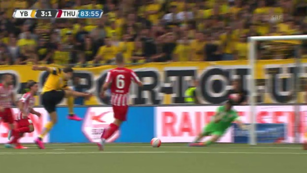 Video «Fussball: Super League, 4. Runde, Young Boys - Thun, 3:1 YB» abspielen