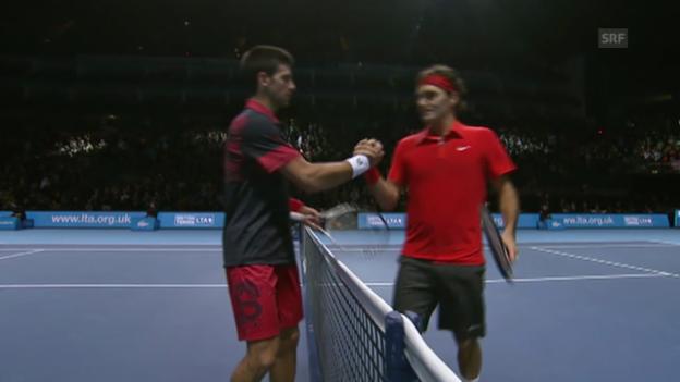 Video «27.11.2010: Federer-Djokovic (ATP Finals London, Halbfinal)» abspielen