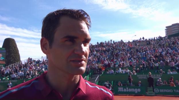 Video «Federer nach seinem Auftaktsieg im Interview» abspielen