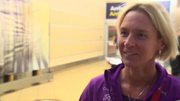 Video «Fussball: Frauen-WM, Interview Voss-Tecklenburg» abspielen
