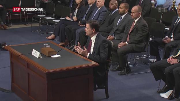 Video «Trump nennt Comey-Anhörung einen Erfolg» abspielen
