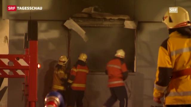 Brände in Aarburg und Widnau (Tagesschau, 24.12.2012)