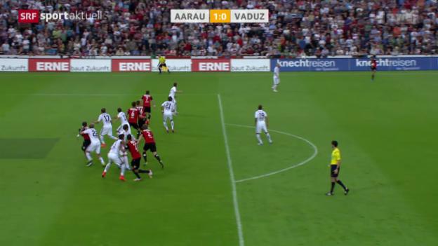 Video «Fussball: Aarau - Vaduz» abspielen