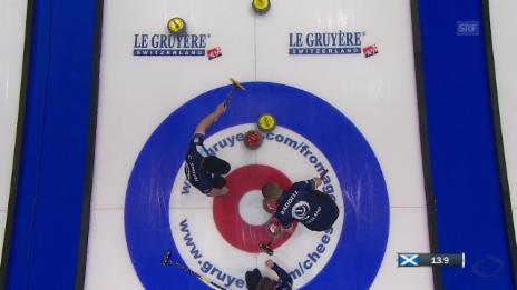 Link öffnet eine Lightbox. Video Schweizer Curler verlieren Halbfinal gegen Schottland abspielen
