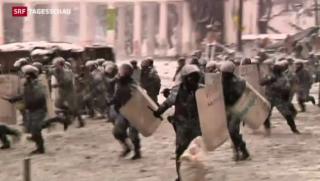 Video «Erstmals Tote bei Protesten in Ukraine» abspielen