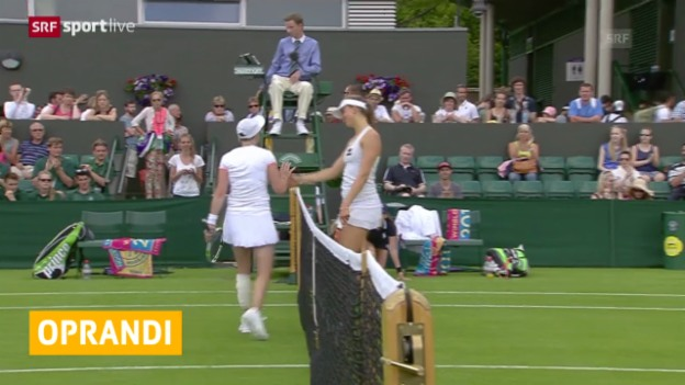 Video «Tennis: Wimbledon, Oprandi in 1. Runde out» abspielen