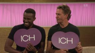 Video «Charles Nguela und Rob Spence: Zwei Komiker im Harmoniequiz» abspielen