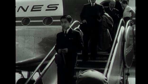 Video «Damaliger Thronfolger Akihito besucht die Schweiz (Filmwochenschau, 1953)» abspielen