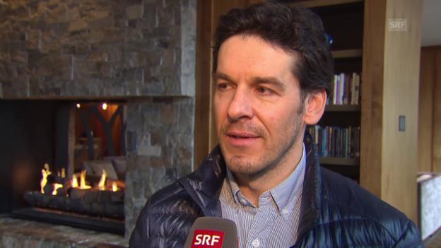 Video «Ski alpin: WM in Vail/Beaver Creek, Interview mit Kilian Albrecht, dem Manager von US-Slalomstar Mikaela Shiffrin» abspielen