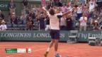 Video «Carreno-Raonic: 7 Matchbälle und 1 Netzroller» abspielen