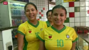 Video «Brasilien macht sich bereit für den WM-Start» abspielen