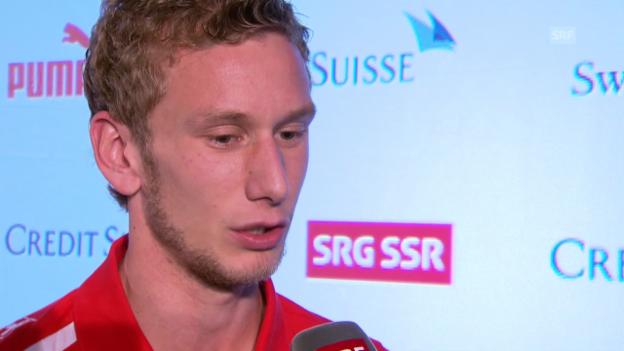 Video «Fussball: Interview mit Fabian Lustenberger» abspielen