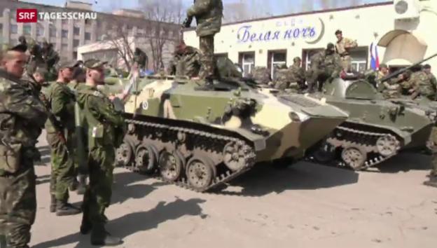 Video «In der Ukraine spitzt sich die Lage weiter zu» abspielen