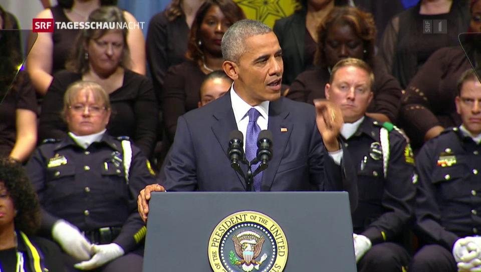 Obama appelliert nach Dallas an die Einheit der Nation