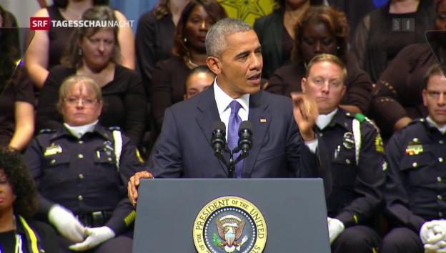 Video «Obama appelliert nach Dallas an die Einheit der Nation» abspielen