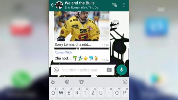 Video «Der WhatsApp-Chat der NLA-Band «We and the Bulls»» abspielen
