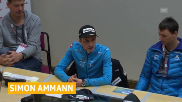 Video «Skispringen: Simon Ammann plant WM-Start» abspielen