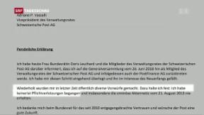 Video «Rücktritt bei Post» abspielen