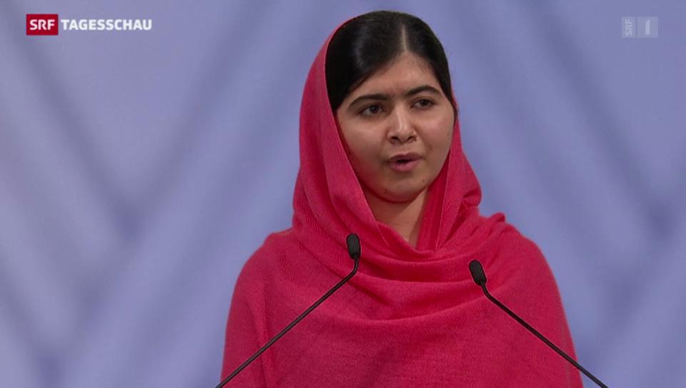 Malala berührt mit ihrer Rede