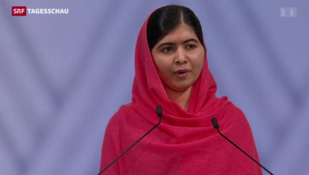 Video «Malala berührt mit ihrer Rede» abspielen