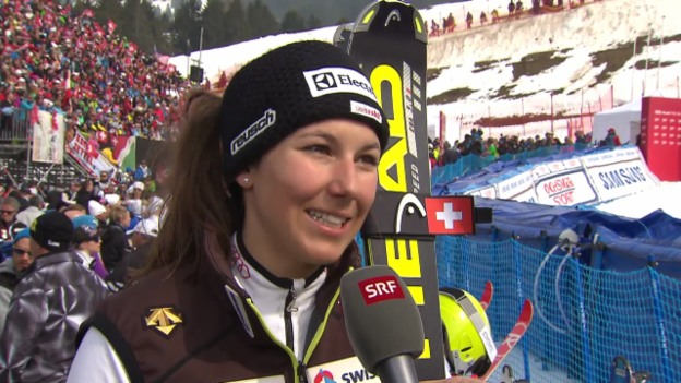 Video «Ski Alpin: Slalom Lenzerheide, Interview Holdener («sportlive», 15.03.2014)» abspielen