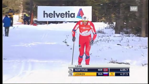 Video «Tour de Ski: Petter Northug im Einzelrennen über 5 km klassisch» abspielen