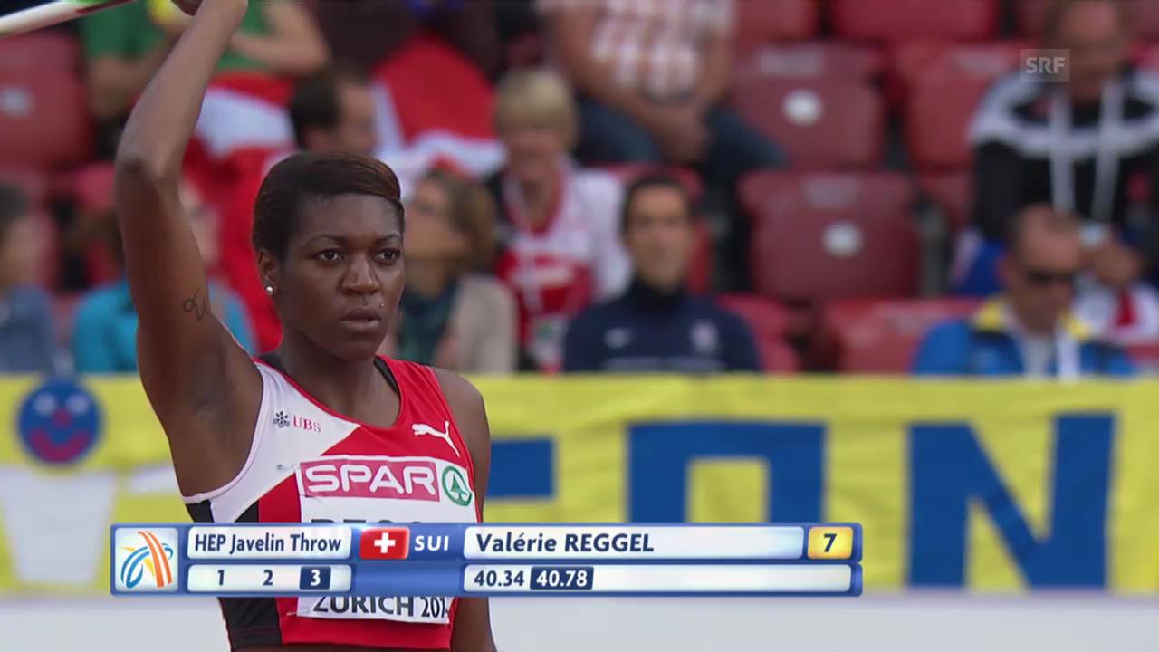 Leichtathletik-EM: Speerwurf von Valerie Reggel