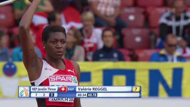 Video «Leichtathletik-EM: Speerwurf von Valerie Reggel» abspielen