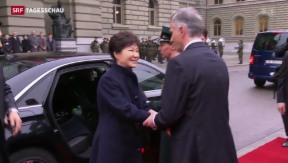 Video «Südkoreas Präsidentin auf Staatsbesuch in der Schweiz» abspielen