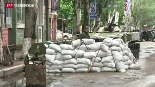 Video «Ukraine: Separatisten fliehen aus Slawjansk» abspielen