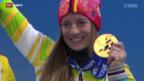Video «Das verspätete Gold für Anna Schaffelhuber» abspielen