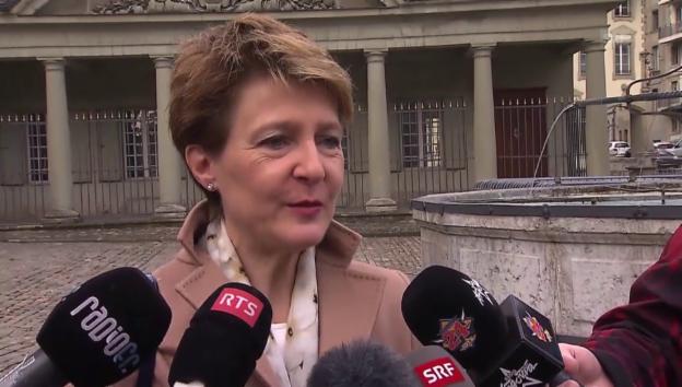 Video «Bundespräsidentin Sommaruga kondoliert» abspielen