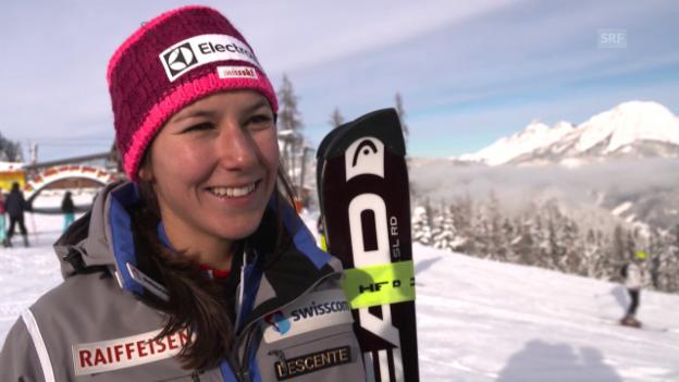 Video «Holdener, Gisin und Chable erinnern sich an den letzten Schweizer Slalomsieg» abspielen