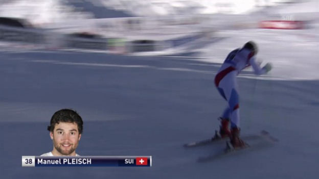 Video «Ski: Riesenslalom Sölden, 1. Lauf Manuel Pleisch» abspielen