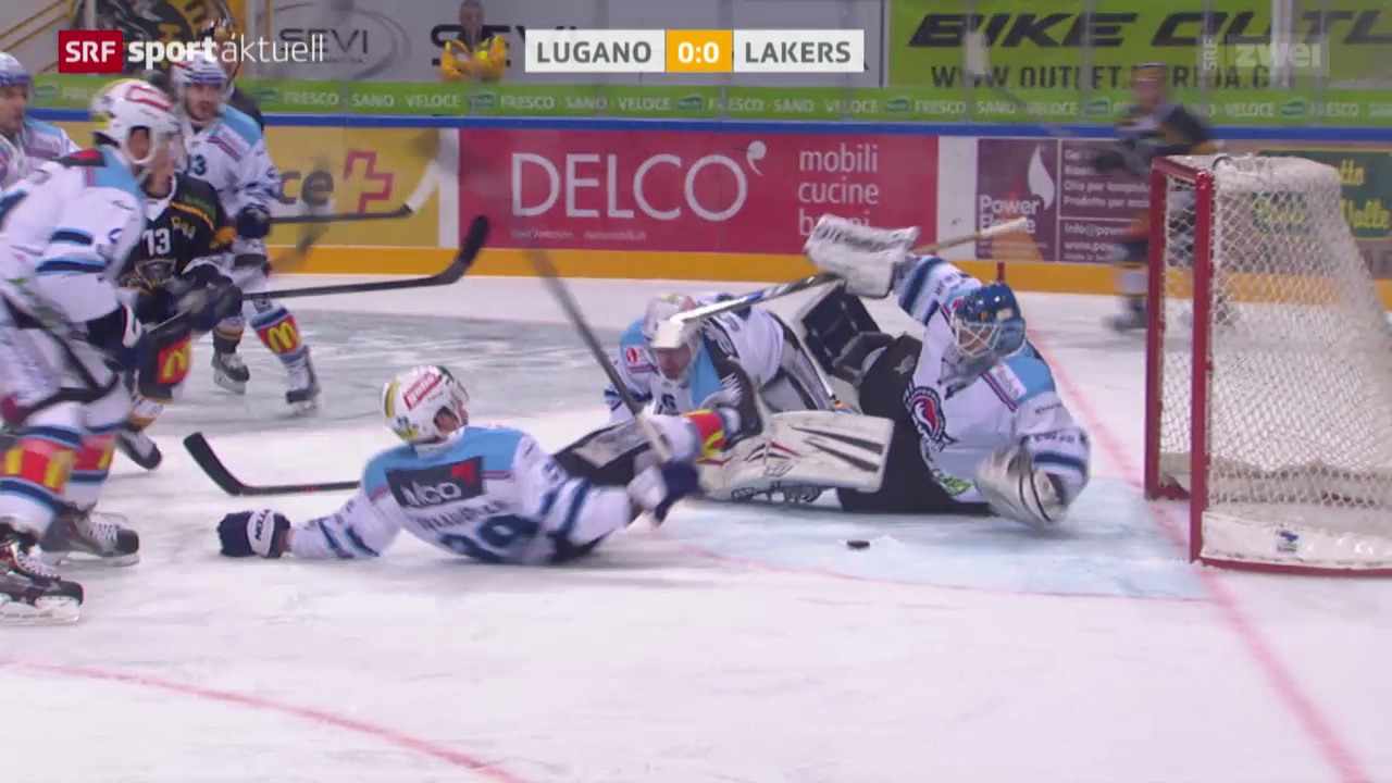 Eishockey: NLA, Lugano-Lakers